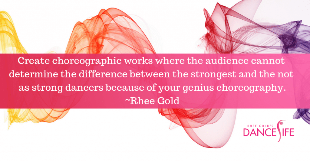 Genius Choreography-Rhee Gold Quote