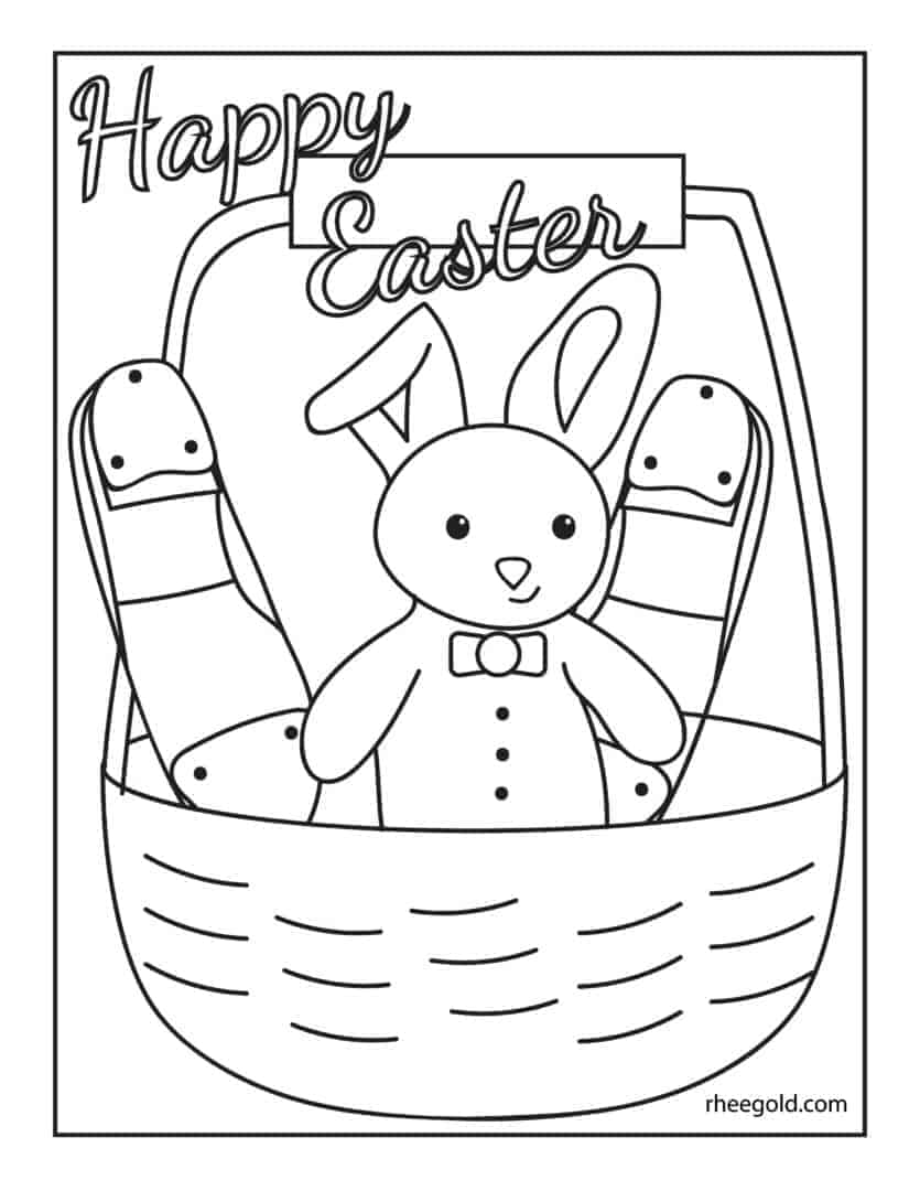 Easter Tap Coloring Page